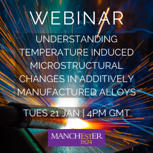 Understanding temperature induced microstructural changes in additively manufactured alloys | 21 Jan